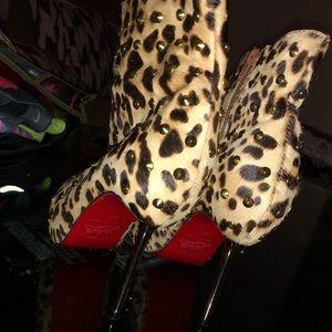 Christian Louboutin Shoes - Christian Louboutin Leopard Print Pong Hair Spikes